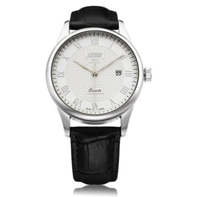 Classic Mens Watch with White Face
