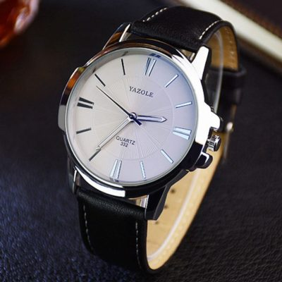 Classic Mens Watch with White dial