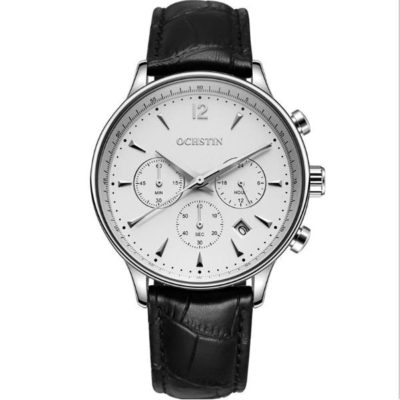 Mens Dress Watch with White Face