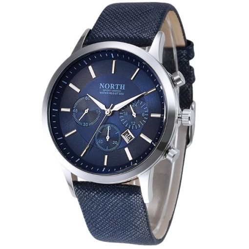 Mens Watch With Blue Face 1