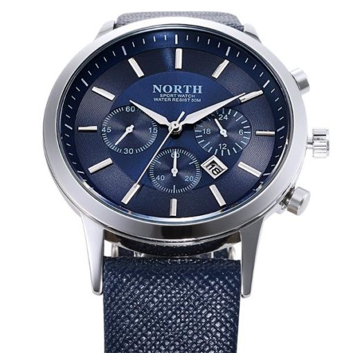 Mens Watch With Blue Face 2