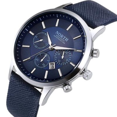 Mens Watch With Blue Face 3