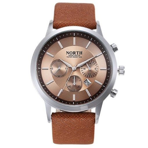 Mens Watch With Coffee Face