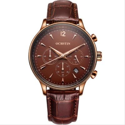 Mens Watch with Brown Face