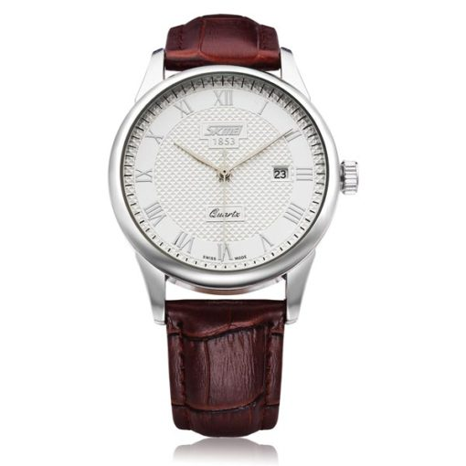 Simple Mens Watch with White Face 1