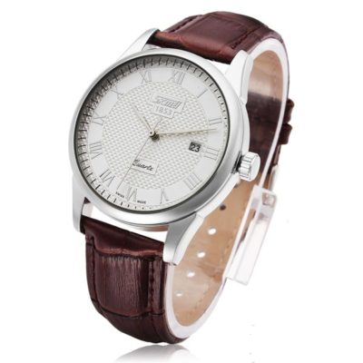 Simple Mens Watch with White Face 2