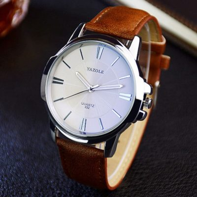 White face watch mens