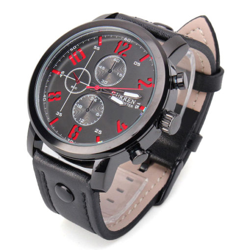 black and red mens watch 1