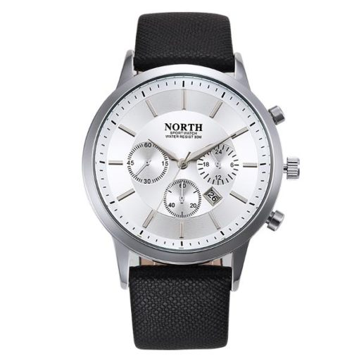 black and silver mens watch