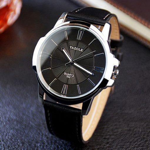 black minimalist watch