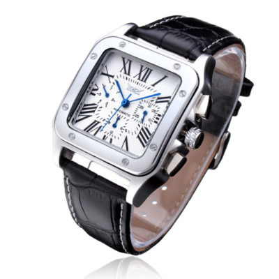 classic automatic watch white face