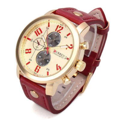 stylish Watch with yellow face 1