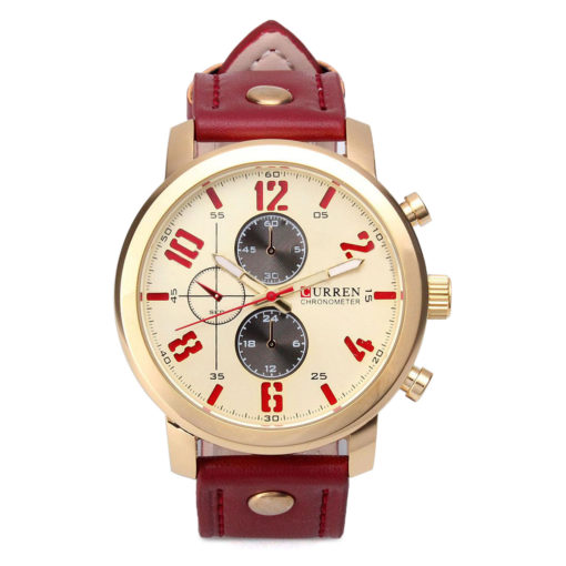 stylish Watch with yellow face 2